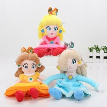 Super Mario party nes switch 8inch 20cm  Bros Plush Princess Peach Daisy Rosalina Soft Doll Toy Cute Xmas Gifts AT_80_8