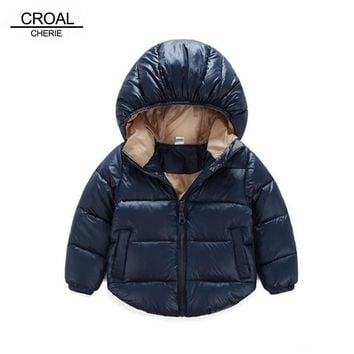 70-120cm Winter Newborn Baby Snowsuit Cotton Girls Coats And Jackets Baby Warm Overall Kids Boy Jackets Outerwear Clothes