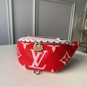 DCCK Louis Vuitton LV Women Leather Waist pack bag