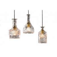 Nordic modern wine glass bottle bar counter coffee bar decorative pendant lamp light