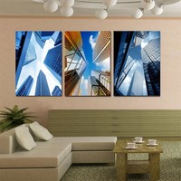 3-Piece Towering Skyscrapers Canvas Painting