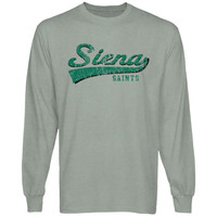 Siena Saints All-American Primary Long Sleeve T-Shirt - Ash