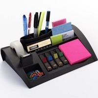 Post-it Desktop Organizer, 12 x 8 x 3-Inches, Black