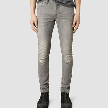 Mens Chika Cigarette Jean (Light Grey) | ALLSAINTS.com