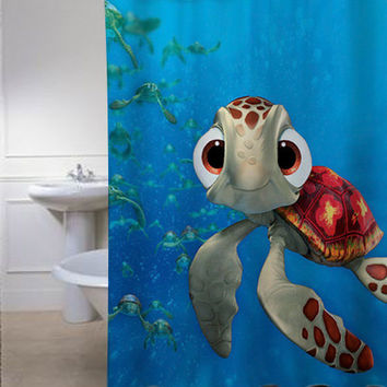 Squirt-Finding Nemo special shower curtains