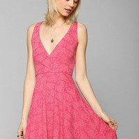 Pins And Needles Surplice Skater Dress  - Urban Outfitters