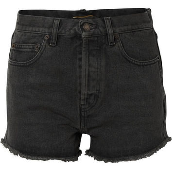 Saint Laurent - Frayed denim shorts