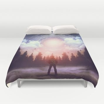 Waiting for the Sun to Rise Duvet Cover by soaring anchor designs