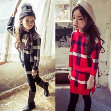 Mother and Baby Girl Clothes Two piece suit 2017 winter Family Matching Outfits Mama and Kids Children Clothing  Outwear