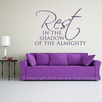 Verse Wall Decals. Rest in The Shadow - CODE 062