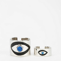 Urban Outfitters - MariaFrancescaPepe Crystal Midi & More Ring - Set Of 2