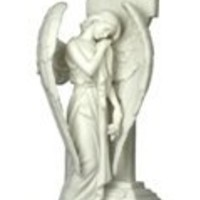 Weeping Angel on Celtic Cross Statue