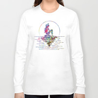 The Little Mermaid Ariel Silhouette Watercolor Long Sleeve T-shirt by Bitter Moon