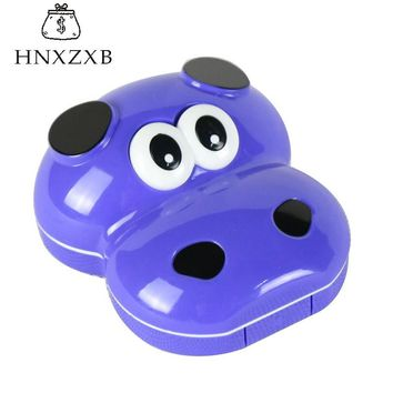 HNXZXB Little Cow  Animal Contact Lenses Storage Box Contact lens Washer Cleaner Case Box For Eyes Care Kit Holder  Container