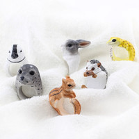 New Funny Cute 3D Animal Rabbit Squirrel Penguin Gecko Seal Open Adjustale Ring Rings Women Men Jewelry Anillos Mujer Hombre