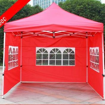 GRNTAMN Outdoor Folding Tent with Three Windows Gazebo Wedding Tent for Party