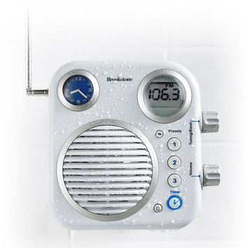 Shower Radio at Brookstone—Buy Now!