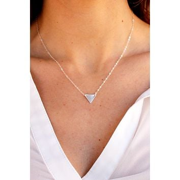 Solid Mini Triangle Necklace - Christine Elizabeth Jewelry