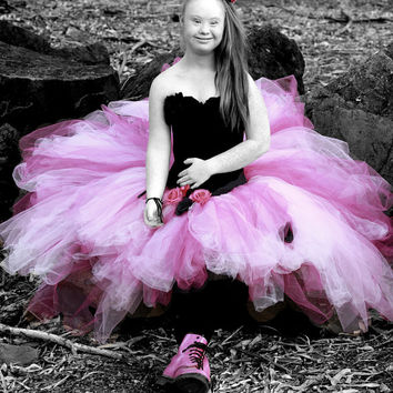 Adult tea length tutu wedding bridal tutu prom senior portrait photo prop steampunk cottage chic womens tulle skirt