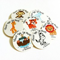 Noah's Ark Party Sticker Favor Labels for Birthday and Baby Shower