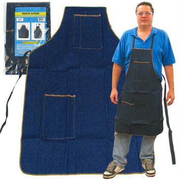 Stalwart  2 Pocket Heavy Duty Denim Shop Apron