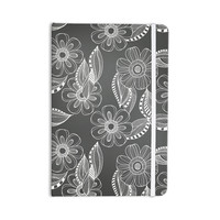 "Louise Machado ""Floral Ink"" Gray White Everything Notebook"