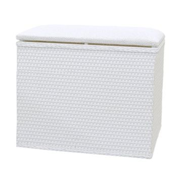 Lamont Home Barrington Bench White Laundry Storage Hamper
