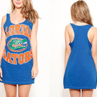 Bright Blue Florida Gators Tank Dress size Large