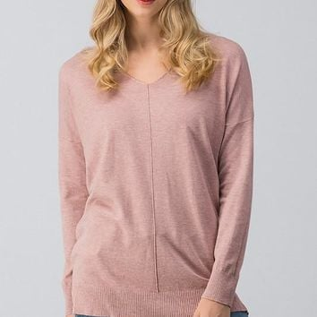 SOFT HIGH-LOW TUNIC SWEATER