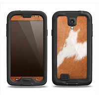 The Real Brown Cow Coat Texture Samsung Galaxy S4 LifeProof Nuud Case Skin Set
