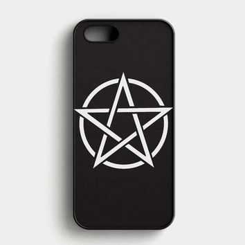 Pentagram Symbol Goth Metal Wiccan Magic iPhone SE Case