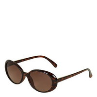 Ashley Oval Sunglasses - Tortoise She