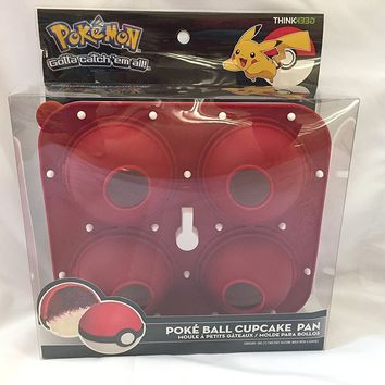 Pokemon Poke Ball Cupcake Pan