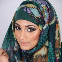 Afifah: Floral And Animal Print, Scarves, floralandanimalprint