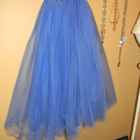 Clearance priced Valentines Day Authentic RARE 1980S Blue Berry Tulle cupcake Crinoline. One Size. Sex in the city. Sarah /Carrie