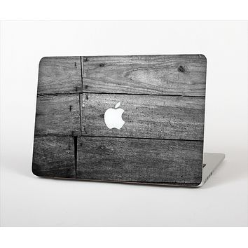 The Gray Worn Wooden Planks Skin Set for the Apple MacBook Pro 15""