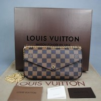 Tagre™ Louis Vuitton Damier Felicie Ladies Wallet Bag Damentasche Pre-Owned Like New Free DHL
