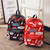 Back To School Casual Stylish Comfort College Hot Deal On Sale Korean Print High Heel Shoes Backpack [6582269959]