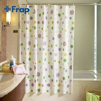 Frap new cartoon 180*180cm 180*200cm PE Waterproof Shower Curtain European floral Bathroom Curtain Bath Curtain With hooks F8851