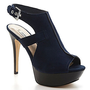 Guess Ofira Platform Sandals - Navy