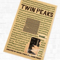 Twin Peaks Vintage Cartoon Poster