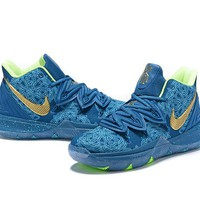 Nike Kyrie Irving 5 Blue Sport Shoes US7-12