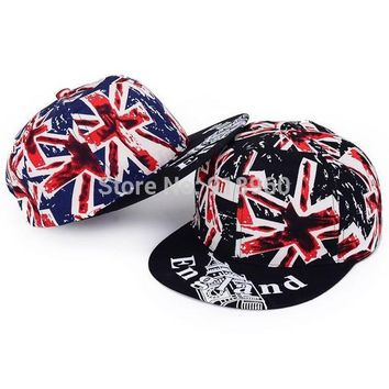 mens snapback hats men baseball caps,vogue British Flag printing flat-brimmed hip hop
