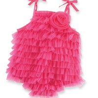 Mud Pie Baby-girls Newborn Chiffon Bubble, Hot Pink, 9-12 Months