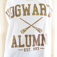 Hogwarts Alumni tshirt harry potter tshirt women tshirt women tank top tunic sleeveless size M
