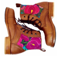 Bold Flower Peace Boot