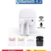 Wireless Bluetooth Earphones Earbuds for Apple Airpods iPhone X 8 7 6 S Plus