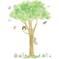 Variety of Forest Animals In a Tree Wall Decal Set