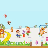 Playground Animals and Friends Wall Sticker Decal SL892