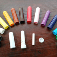 Lot of 140sets 14colors Nasal Inhaler Parts For Filling Essential Oils (4 Parts Per Set)